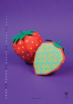 2014 Calendar With Flavours by  Nearly Normal Craft http://www.nearlynormal.tv/globo-biggest-content.html