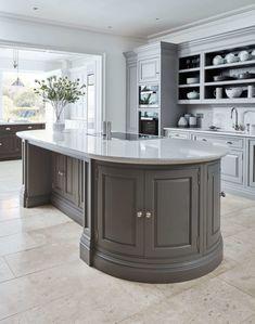 Modern Luxury Kitchens For A Grand Kitchen Grey Kitchens, Bespoke Kitchens, Luxury Kitchens, Home Kitchens, Fitted Kitchens, Modern Kitchens, Luxury Kitchen Design, Interior Design Kitchen, Kitchen Designs