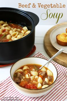 Beef & Vegetable Soup in the Rockcrok from Sweet Bella Roos  Shop now or join my team @ www.pamperedchef.biz/emileeskitchen, join me on Facebook  Emilee's Pampered Chef Kitchen.  Contact me to get some FREE :)
