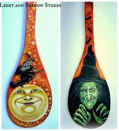 Light and Shadow studio: STJ Witch paddle Diy Halloween, Wooden Halloween Crafts, Halloween Ornaments, Halloween Signs, Holidays Halloween, Vintage Halloween, Happy Halloween, Halloween Decorations, Halloween Stuff