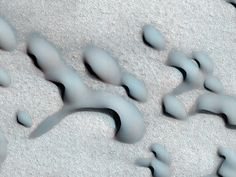 Dune migration on the surface of Mars taken by HiRISE.