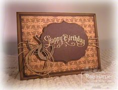 A Western Birthday by RaeInReno - Cards and Paper Crafts at Splitcoaststampers