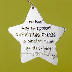 Buddy The Elf Ornament - The Best Way To Spread Christmas Cheer - Hand Stamped Metal Ornament