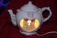 Lovely 1992 Precious Moments Porcelain Teapot Lamp by 2BEB on Etsy, $42.00