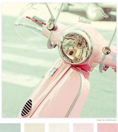 Retro Pink Scooter ღ
