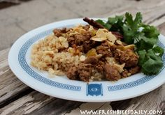 A succulent ground lamb with Moroccan spices