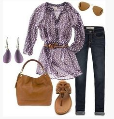 Cute Spring Outfit, animal print blouse and brown sandles