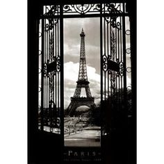 #10: Eiffel Tower (Through Gates, 1909) Art Poster Print - 24 X 36 Poster Print by Alexandre-Gustave Eiffel, 24x36 Travel Poster Print by Alexandre-Gustave Eiffel, 24x36