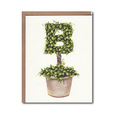 I designed and hand painted each topiary letter in the alphabet. This Monogram Topiary notecard was created using the digital images of those original paintings,  The topiary notecards are 4.25 x 5.5 and are printed on a premium Strathmore stock. The set of 4 includes envelopes and is in a resealable cellophane package. All notecards are blank inside and have the artists name on the back.  Each of the topiary paintings featured on notecards is also available as a…