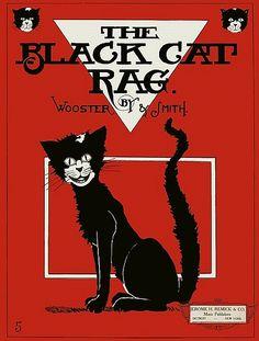 "Vintage Sheet Music- ""The Black Cat Rag""  (1905)"