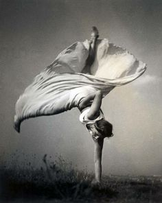 """""""Woman doing a one handed cartwheel (1937/38) by Dr. Bohumil Kröhn."""""""