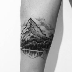 Image result for trees with mountains tattoo