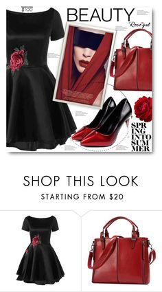 """""""//Rosegal 14/60//"""" by sajra-de ❤ liked on Polyvore featuring vintage"""