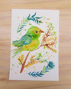 #plantas #pájaro #arte #art #designer #design #acuarelas #watercolor #tallerdediseño #mardelplata #mariajorgelinagarro ☝ (en Mar del Plata, Argentina)
