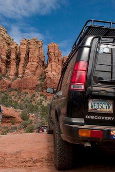 Our old Land Rover Discovery Series  Broken Arrow Trail Sedona, AZ.