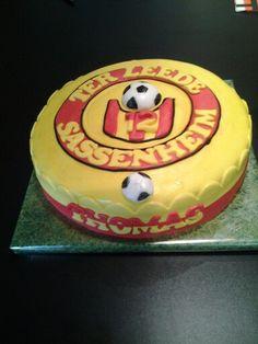 Ter leede voetbal taart