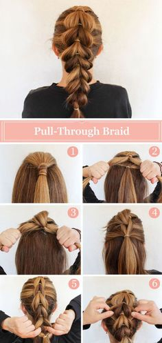 French braid step by step for long and medium hair - Trenza francesa para cabello largo y medio