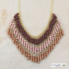 DIY Burgundy Bliss Necklace by @dyezbakmoore featuring Bead Gallery beads…