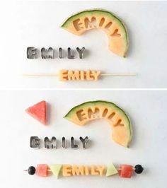 Brochetas de melon!  Esta incre la idea!