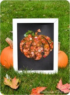 Button Pumpkin: Autumn Craft for Children *so cute
