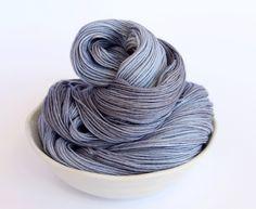 Hand Dyed Sock Yarn - Pokolbin 65/20/15 Superwash Merino Bamboo Silk Sock Yarn - Smoke with Fog and Ash Grey by ClementineAndThread on Etsy