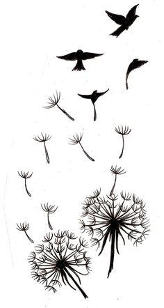 dandelion bird wrist tattoo - Google Search