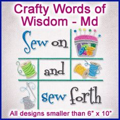 A Crafty Words of Wisdom Design Pack - Md