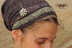 Purple and green tichel,Hair Snood, Head Scarf,Head Covering,jewish headcovering,Scarf,Bandana,apron