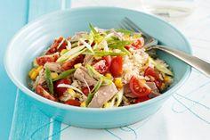 Tuna brown rice lunch idea