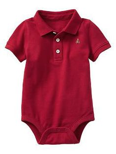 Polo bodysuit | Gap to match his daddy's polo shirt!
