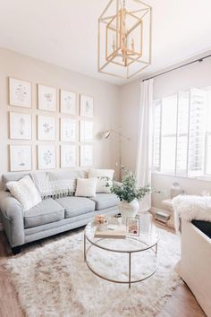 neutral living room design glam living room with g&; neutral living room design glam living room with g&; Michelle mmpaek H O M E neutral living room design glam […] living room walls Glam Living Room, Cozy Living Rooms, Apartment Living, Home And Living, Living Room Furniture, Rustic Furniture, Furniture Ideas, Modern Furniture, Living Room Decor Gold