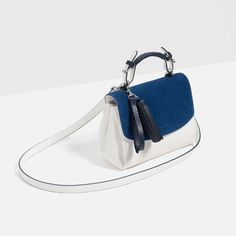 🎉 ❤️Blue mini bag with split suede flap in contrasting color. ❤️has handle and shoulder strap and interior pocket! Magnetic fastening and finger pendant! ❤️measures 16 x 23 x 12 cm Zara Bags Mini Bags Zara Bags, Posh Love, City Bag, Small Bags, Bucket Bag, Fendi, Shoulder Strap, Fashion Design, Fashion Trends