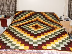 Patchwork Crochet Free Pattern Diamond Design 3