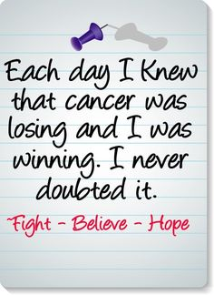 Fight, Believe, Hope