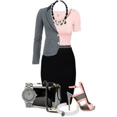 """""""Grey Blazer """"Contest"""""""" by suzky68 on Polyvore"""