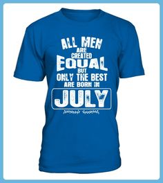 ALL MEN ARE CREATED EQUAL BUT THE ARE BORN IN JULY TSHIRT (*Partner Link)