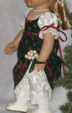 1812 Regency Holiday Dress and Hairband by SugarloafDollClothes