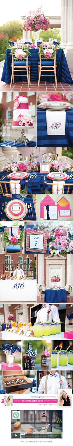 Preppy, southern wedding #pink #navy Morgan Hager is simply amazing!