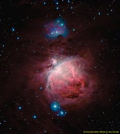 The Great Orion Nebula (M42).  Great indeed. Like an old friend. Sort of. Except, much bigger than anyone I know.