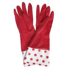 Can't remove those rubber gloves?   Run your hands under cold water, they will be much easier to get off!
