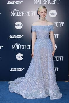 Elle Fanning was a vision in a Elie Saab blue gown at the 'Maleficent' world premiere. Photo: Kazuki Hirata / HollywoodNewsWire.net / PRPhotos.com