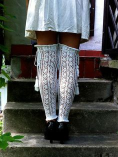 A Pretty ones legwarmers Reserved for demco11 by domklary on Etsy, $50.00