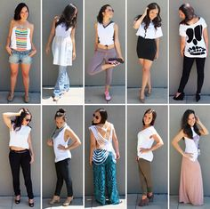 We took the classic white tee and styled it 10 different ways. Which look is your favorite?