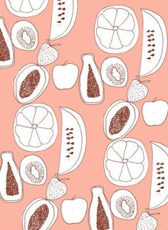 love fruit, love pattern // by Kendra Dandy