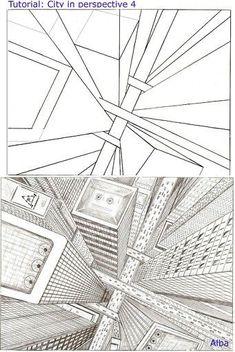 arbeitsblatt zeichnen perspektive zeichnungen malen kunst pinterest perspektive. Black Bedroom Furniture Sets. Home Design Ideas