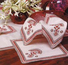 My Grandmother would embroider many things. Polish Embroidery, Embroidery Patterns, Knitting Patterns, Cross Stitch Charts, Cross Stitch Patterns, Folk Print, Crochet Crafts, Deco, Needlework