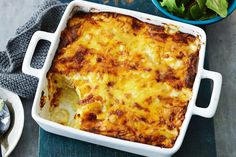 The cheesy sauce on this potato bake has impressed many a Taste.com.au member. Try it tonight and tell us what you think! Cheesy Potato Bake, Cheesy Potatoes, Boil Potatoes, Potato Pie, Potato Dishes, Baked Potato, Vegetable Dishes, Vegetable Recipes, Cheesy Sauce
