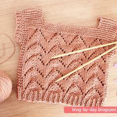 Crochet Bebe, Crochet For Kids, Knit Crochet, Blog By Day, Baby Vest, Baby Wearing, Baby Knitting, Lana, Crochet Bikini