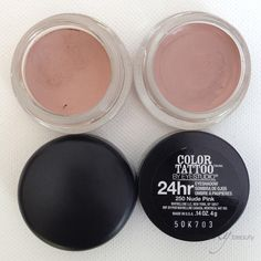 MAC's Painterly compared to Maybelline's Nude Pink