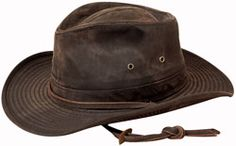 Weathered Cotton Outback Hat -